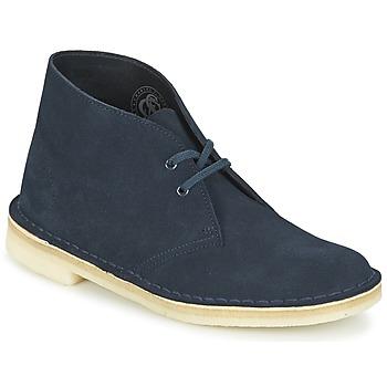Topánky Ženy Polokozačky Clarks DESERT BOOT Modrá