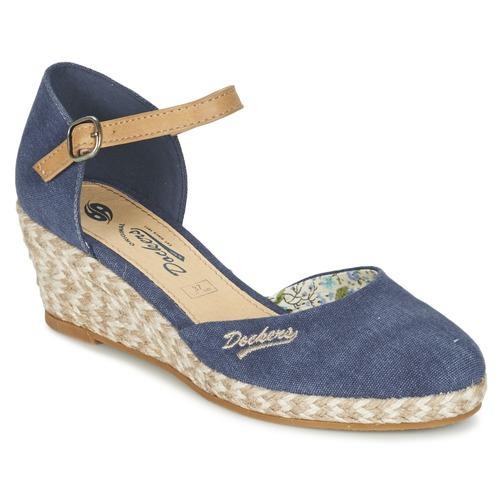 Topánky Ženy Sandále Dockers by Gerli AFINOUDE Modrá