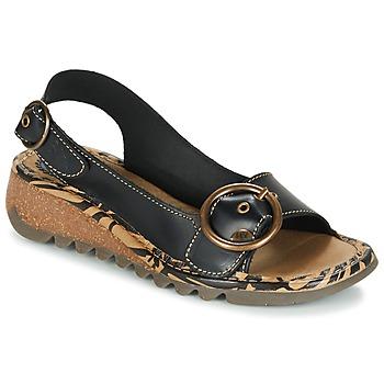 Topánky Ženy Sandále Fly London TRAMFLY Čierna