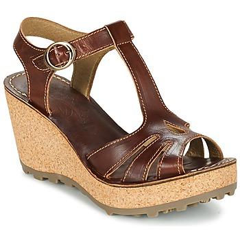 Topánky Ženy Sandále Fly London GOLDY Hnedá