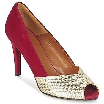 Topánky Ženy Lodičky Heyraud ELOISE červená / Zlatá