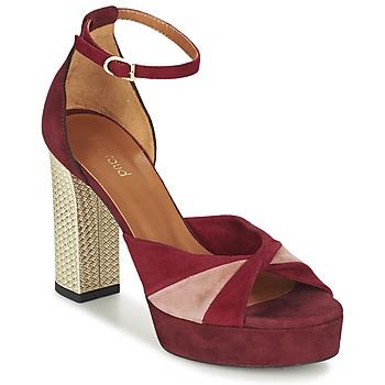 Topánky Ženy Sandále Heyraud EVELINE červená / Ružová / Zlatá