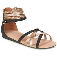 Topánky Dievčatá Sandále Bullboxer REVILZOA čierna / Zlatá
