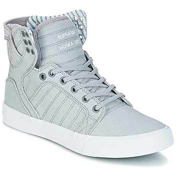 Topánky Členkové tenisky Supra SKYTOP šedá