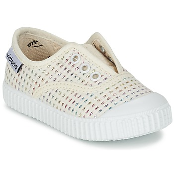 Topánky Dievčatá Nízke tenisky Victoria INGLESA LUREX ELASTICO Béžová