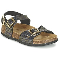 Topánky Dievčatá Sandále Betula Original Betula Fussbett JEAN Čierna / Zlatá