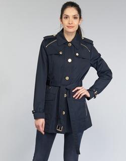 Oblečenie Ženy Kabátiky Trenchcoat MICHAEL Michael Kors ZIPPER YOKE TRENCH Námornícka modrá