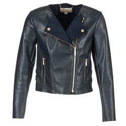 Oblečenie Ženy Kožené bundy a syntetické bundy MICHAEL Michael Kors BONDED LTHER JKT Námornícka modrá