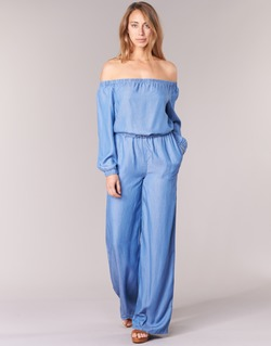 Oblečenie Ženy Módne overaly MICHAEL Michael Kors TENCEL OFF SHDR JUMPSUIT Modrá
