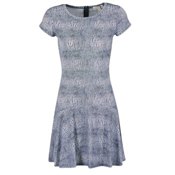 Oblečenie Ženy Krátke šaty MICHAEL Michael Kors ZEPHYR SS FLARE DRS Modrá / Biela