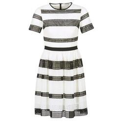 Oblečenie Ženy Krátke šaty MICHAEL Michael Kors GRAPHIC CR STRIPE DRS čierna / Biela