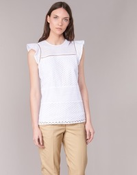 Oblečenie Ženy Blúzky MICHAEL Michael Kors COMBO EYELET S/S Biela