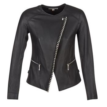 Oblečenie Ženy Kožené bundy a syntetické bundy MICHAEL Michael Kors CHAIN FRONT BIKER čierna