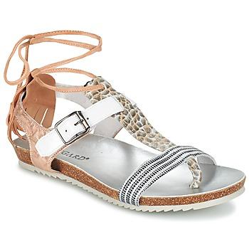 Topánky Ženy Sandále Regard RABALU Biela / Béžová / Hadí vzor