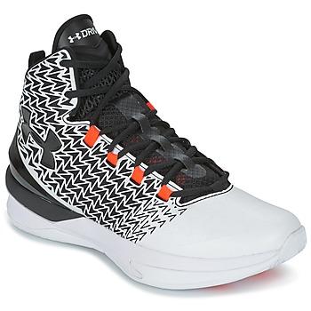 Topánky Muži Basketbalová obuv Under Armour UA ClutchFit Drive 3 Biela / čierna / Oranžová