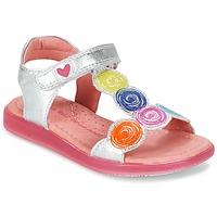 Topánky Dievčatá Sandále Agatha Ruiz de la Prada BIDINETTE Strieborná