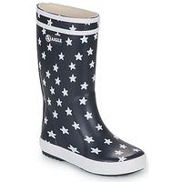 Topánky Deti Čižmy do dažďa Aigle LOLLY POP PRINT Námornícka modrá