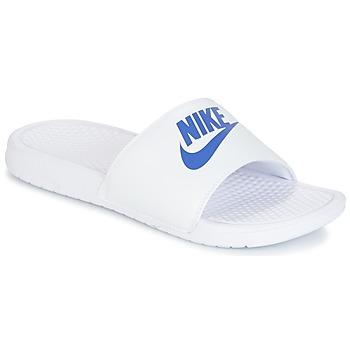 Topánky Muži športové šľapky Nike BENASSI JUST DO IT Biela / Modrá