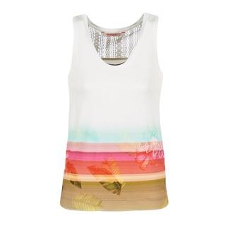 Oblečenie Ženy Tielka a tričká bez rukávov Desigual TEDERI Biela / Viacfarebná