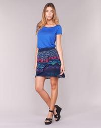 Oblečenie Ženy Sukňa Desigual RASSENIO Námornícka modrá