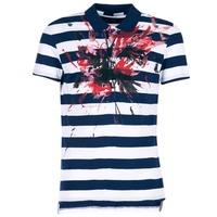 Oblečenie Muži Polokošele s krátkym rukávom Desigual RELIRA Biela / Námornícka modrá / červená
