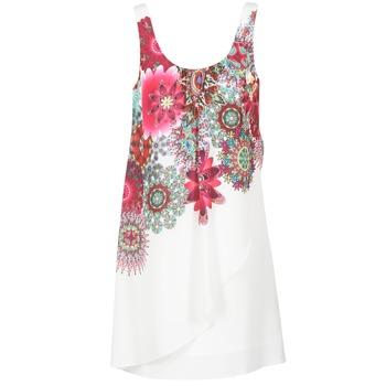 Oblečenie Ženy Krátke šaty Desigual LIORASA Biela / červená / Ružová