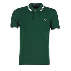 Oblečenie Muži Polokošele s krátkym rukávom Fred Perry TWIN TIPPED FRED PERRY SHIRT Zelená