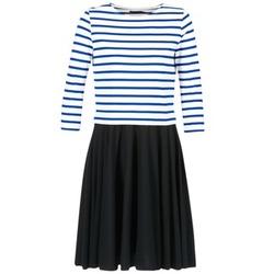 Oblečenie Ženy Krátke šaty Petit Bateau FINALLY Biela / Modrá