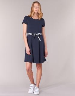 Oblečenie Ženy Krátke šaty Petit Bateau FLARE Námornícka modrá