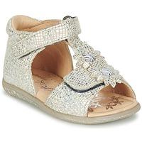 Topánky Dievčatá Sandále Babybotte TUTU Strieborná