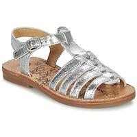 Topánky Dievčatá Sandále Babybotte YLONA Strieborná