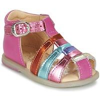 Topánky Dievčatá Balerínky a babies Babybotte TIKALOU Ružová / Viacfarebná