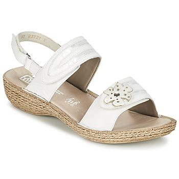 Topánky Ženy Sandále Rieker MIOLOI Biela