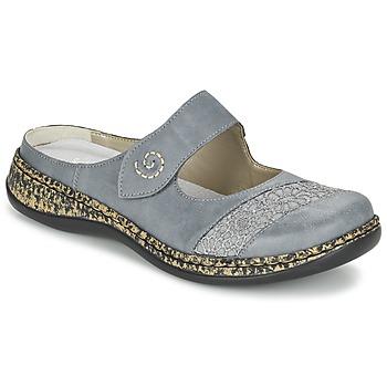 Topánky Ženy Šľapky Rieker GRILOPI Modrá / šedá