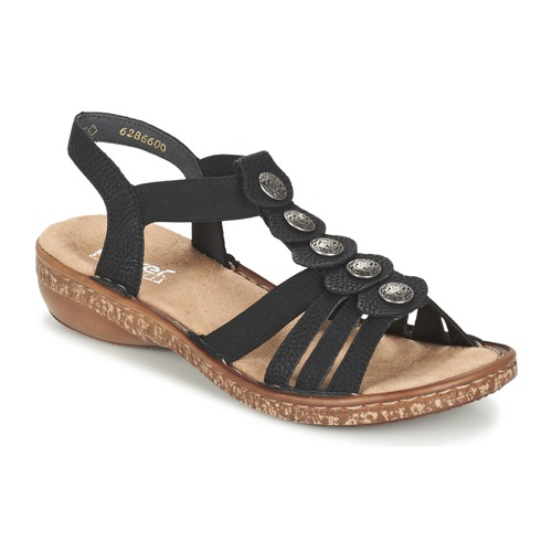 Topánky Ženy Sandále Rieker MECHAROLO Čierna