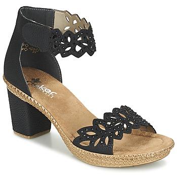 Topánky Ženy Sandále Rieker POTIRASSE čierna