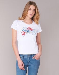 Oblečenie Ženy Tričká s krátkym rukávom Pepe jeans AMBER Biela
