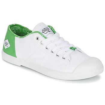 Topánky Ženy Nízke tenisky Le Temps des Cerises BASIC 02 Biela / Zelená