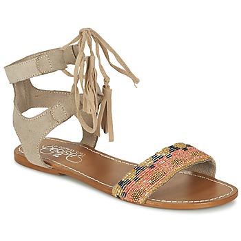 Topánky Ženy Sandále Le Temps des Cerises KAMPUR Béžová
