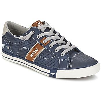 Topánky Muži Nízke tenisky Mustang FALA Námornícka modrá