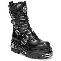 Topánky Polokozačky New Rock NEMESIS Čierna