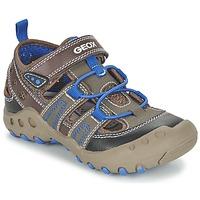 Topánky Dievčatá Sandále Geox J SAND.KYLE A Hnedá