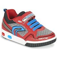 Topánky Chlapci Nízke tenisky Geox J GREGG B červená / Modrá