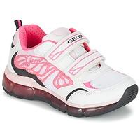 Topánky Dievčatá Nízke tenisky Geox J ANDROID G. A Biela / Ružová
