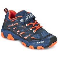 Topánky Chlapci Nízke tenisky Geox J MAGNETAR B. A Námornícka modrá / Oranžová