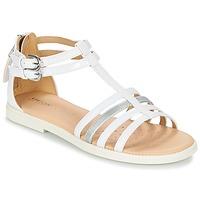 Topánky Dievčatá Sandále Geox J S.KARLY G. D Biela