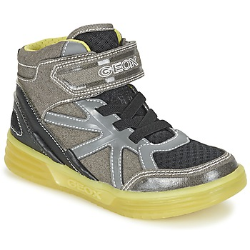 Topánky Chlapci Členkové tenisky Geox J ARGONAT B. B šedá / žltá citrónová