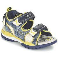 Topánky Chlapci Športové sandále Geox J BOREALIS B. D Námornícka modrá / žltá citrónová
