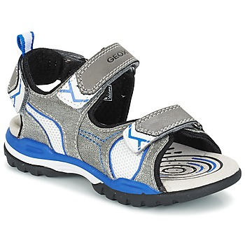 Topánky Chlapci Športové sandále Geox J BOREALIS B. D šedá / Modrá