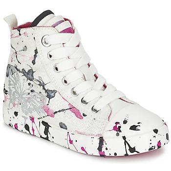 Topánky Dievčatá Členkové tenisky Geox J CIAK G. C Biela / Ružová